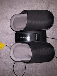 Homedics heated black foot massager