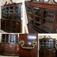 Rare  grand Antique China cabinet with french accents Old Town Manassas, 20111