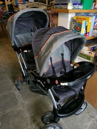 double and sit and stand stroller @ clic klak used Mississauga, L4X 2S3