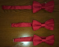 $10 for 1 and $30 for all 3 Red clip H&M bowties  Bradford West Gwillimbury, L3Z