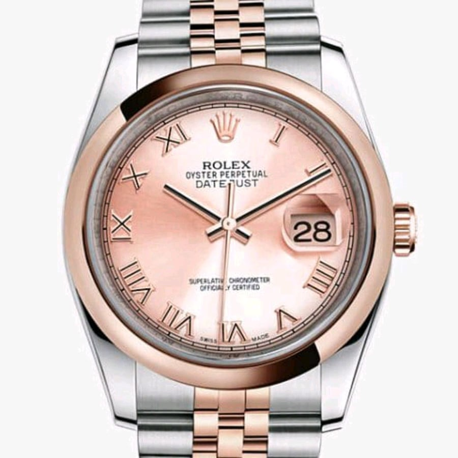 Rolex Datejust Champagne Dial Stainless Steel and 18kt Pink Gold Mens