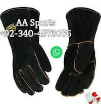 Gun pam Welding Leather Gloves ,electrical, dress, boxing, gol, Driver, gun pam, cow split leather
