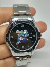Miami Dolphins Custom Stainless Steel Analogue Watch Odessa, TX, USA