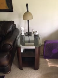 end table and lamp null