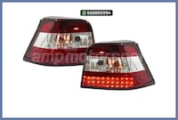 PILOTOS LED ROJO/CROMO VW GOLF MK4 97-03 MADRID