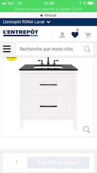 White and black wooden 4-drawer chest Laval, H7E 1E9