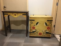 Trunk chest and side table console table Monterey style