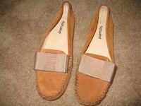 Women's Brown Suede Ribbon Bow Flats Toronto