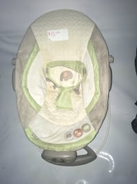 baby's white and green bouncer Langley, V2Y 1H5