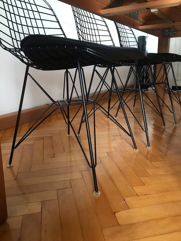 6 adet vitra wire chair 4