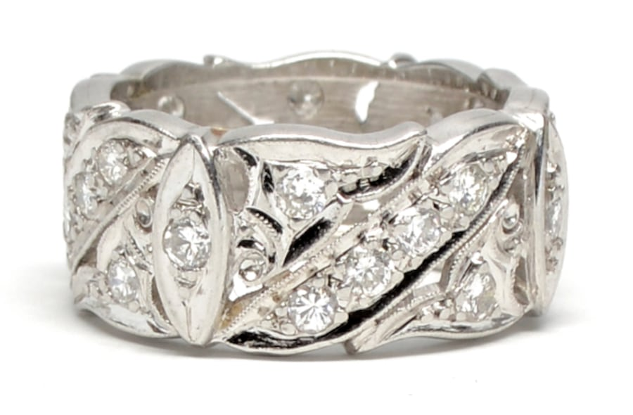 14K Ladies White Gold/Diamond Band 0064073e-7432-4d2f-bbb7-af9787f62cf4