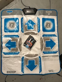 Wii dance dance revolution pad and game
