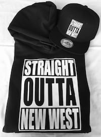 Straight Outta new west hoodie