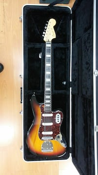 Guitar with hard-shell case