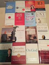 Book sale all books in new condition any one 5 dollars you pick