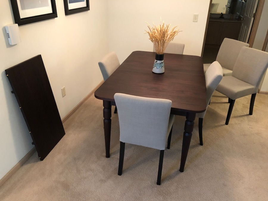 Used 60u201d X 38u201d Dining Table With 18u201d Insert And Six Chairs For Sale In New  Berlin   Letgo