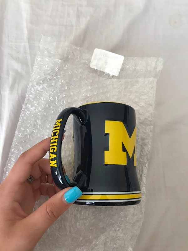 Michigan Wolverines Sculpted Coffee Mug 1