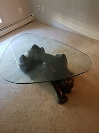 black panther ceramic figure base clear glass-top coffee table Edmonton, T5Y 0C5