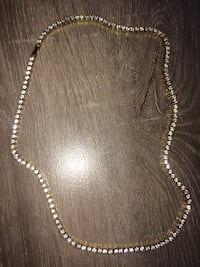 Gold Tennis Chain with Crystals Elkhart, 46514