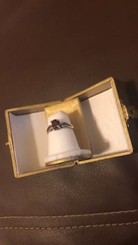 silver-colored ring with red gemstone Roanoke, 24013