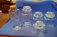 5 glass canisters  Winchester, 22601