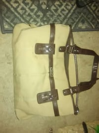 white and brown leather tote bag Augusta, 30907