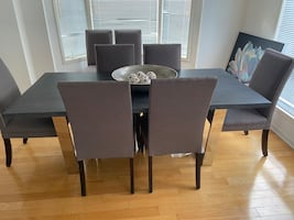 RECTANGULAR LIVE EDGE BIRCH WOOD DINING TABLE