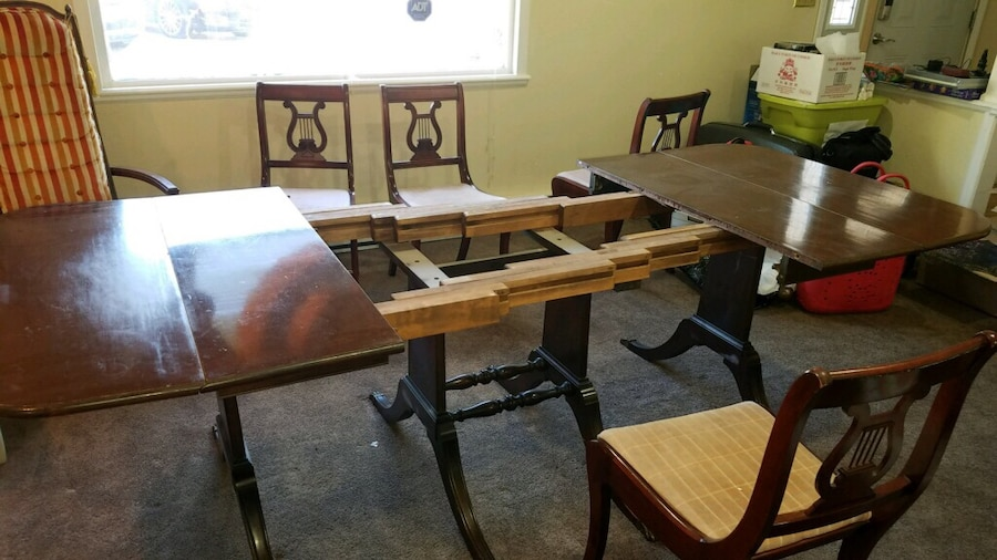 used 1930 s duncan phyfe style warfield drop leaf table with 1 rh us letgo com