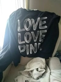black and white Love Pink print textile Council Bluffs, 51501