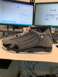 "AIR JORDAN 14 RETRO ""LT. GRAPHITE""  1495 km"