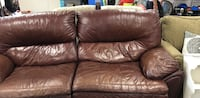 Brown leather Love seat  Escondido, 92025