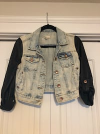 Faux Denim and Leather Jacket Riverview, E1B