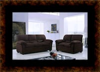 Chocolate microfiber sofa and loveseat Greenbelt, 20770
