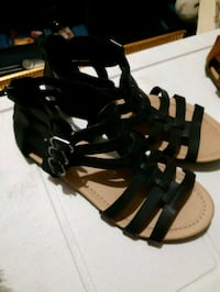 black leather open toe ankle strap heels Oakville, L6H