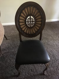 Glass top table &4 chairs