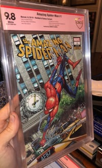 Amazing Spider-Man 1 signed by Humberto Ramos Bolton, L7E 1Z3