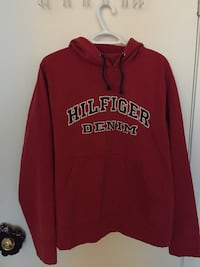 Red and white Tommy Hilfiger pullover hoodie Surrey