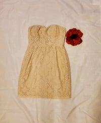 Cream Colored Eyelet Bustier Dress Calgary, T3P 0B1