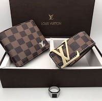 Damier ebene louis vuitton leather wallet Edmonton, T6T 0G3