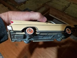 brown classic coupe scale model