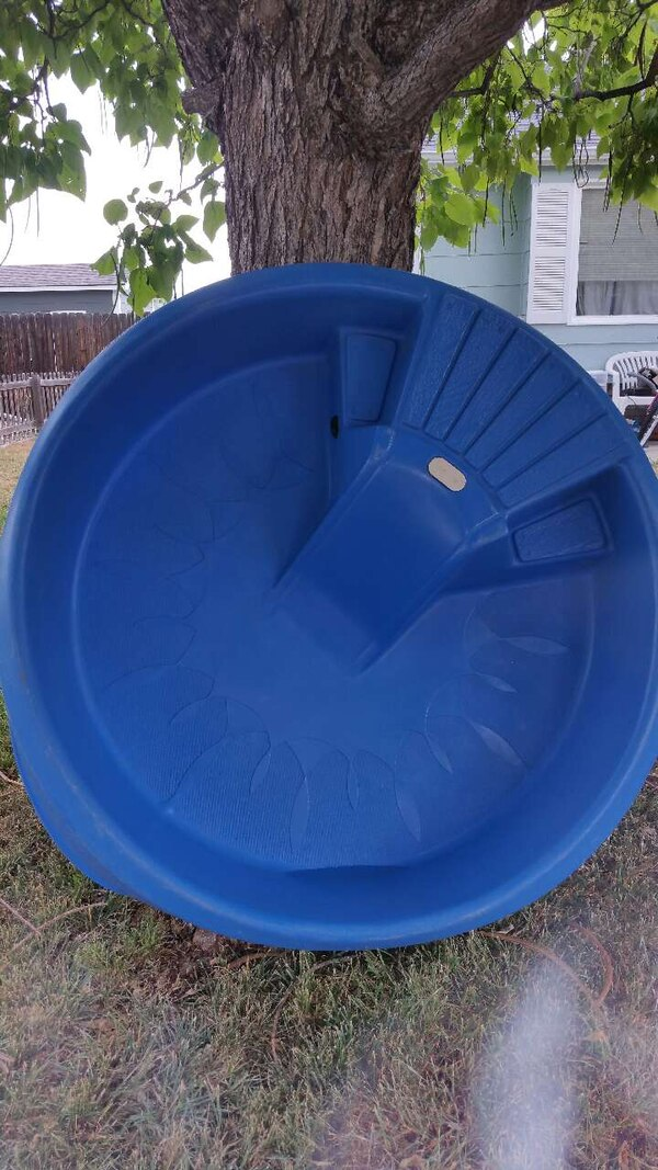 Used Little Tikes Hard Plastic Pool With Slide $40 OBO for sale in ...