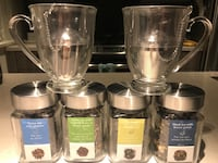 Brand new Tea cups with tea infusers and four unopened tea Vancouver, V5T 0G2