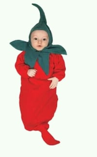 Baby 0-6 month chili pepper bunting/costume Muskego, 53150
