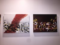 Abstract paintings. Newmarket, L3Y 6K7