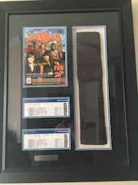 Salt-N-Pepa Framed Collectible Picture With Pepa's Stage Towel Alexandria