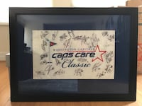 Washington Capitals Golf Flag signed by entire 2007-2008 team (Ovi's first playoffs with COA)