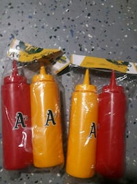 A's yellow and red plastic containers new Antioch
