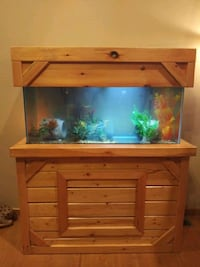 Fish tank and wooden stand 75 aquarium