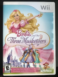Barbie and the Three Musketeers video game for the Nintendo Wii