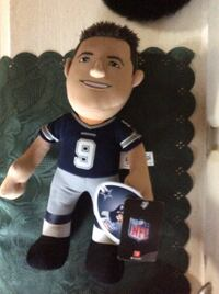 nfl star plush toy wearing blue 9 jersey New Bedford, 02740